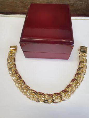 Bransoletka złota pr.585 waga 75g wzór galibardi