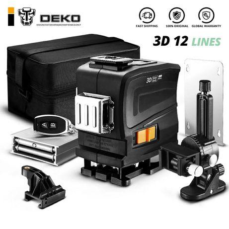 DEKO LL12-GTD 360 laser samopoziomujący 3D 12 linii