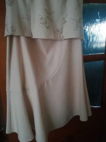 Spódnica marynarka bluzeczka komplet damski