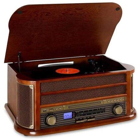 Auna Bella Epoque 1908 Retro wieża stereo/gramofon