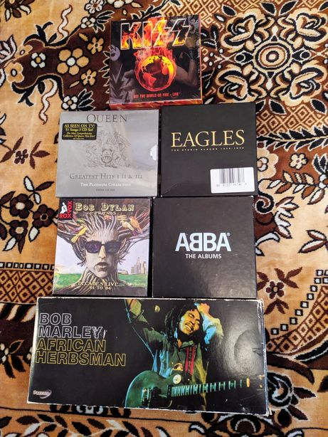 Подарочные CD box set (Queen,Kiss,Abba,Bob Marley,Eagles,Bob Dylan)!