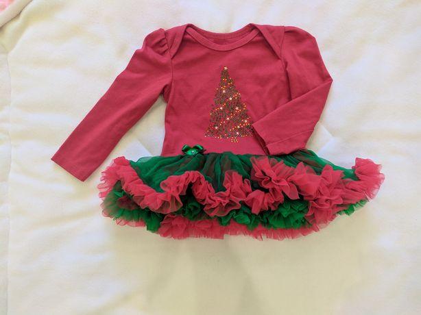 Боди платье новогодние, на 1 год