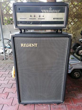 Zestaw wzmacniacz gitarowy plus kolumna Vermona Regent 1000B