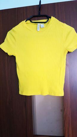 Crop Top H&M XS Yellow T-shirt