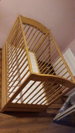 Łóżeczko drewniane klupś 120x60