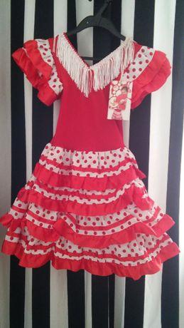 Sukienka przebranie flamenco strój karnawałowy