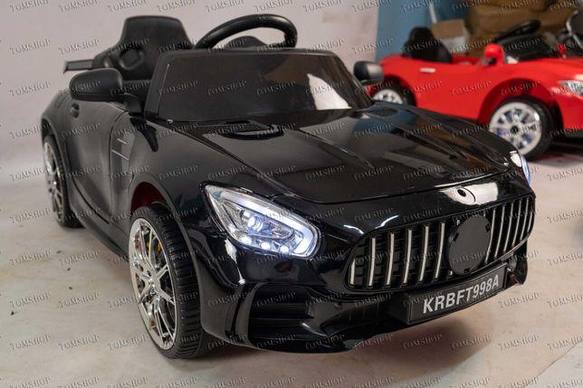 Детский электромобиль чорний Дитячий електромобiль електрокар