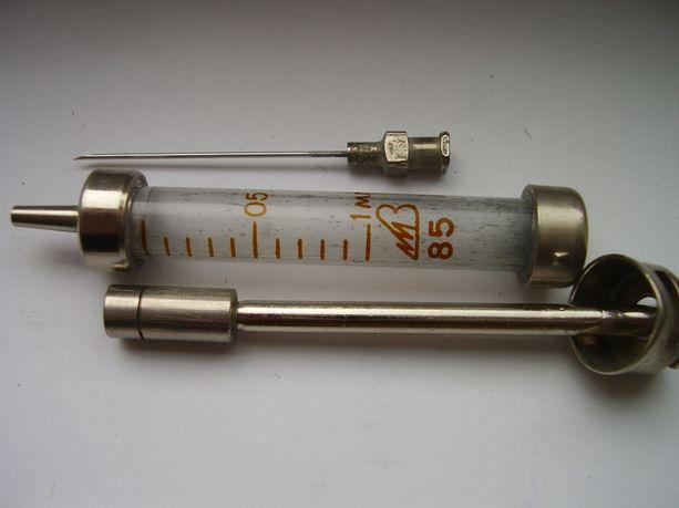 Шприц стеклянный медицинский 1 мл. инъекционный многократного применен