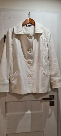 Płaszcz ecru przejściowy