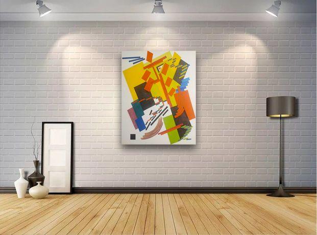 Картина, масло на холсте. Абстракция, супрематизм.
