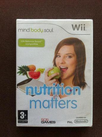 Jogo Mind, Body & Soul: Nutrition Matters Wii. Novo. Portes grátis!
