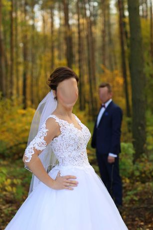 Suknia ślubna Maxima, rozmiar 36 + welon