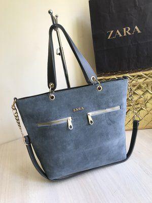 Элегантная замшевая сумка Zara