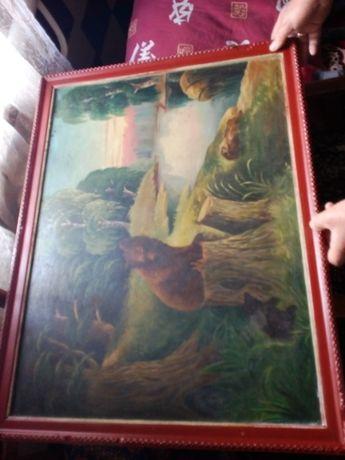 Картина старая р 60х80 см