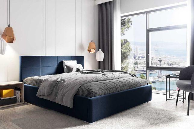 Łóżko tapicerowane KATIA stelaż metalowy + pojemnik