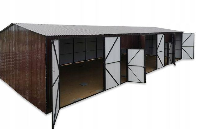 Garaż dwuspadowy blaszak 7x18 hala magazyn 3-stanowiskowy