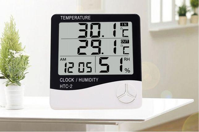 Годинник Термометр Гігрометр з Виносним Датчиком HTC - 2 White