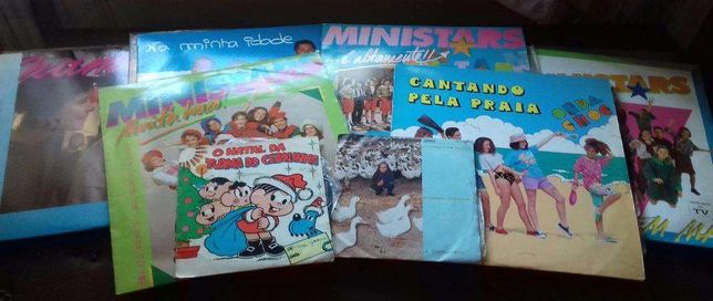 Discos Vinil Infantis/Juvenis Ministars Turma do Cebolinha