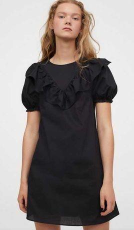 платье черное короткое мини H&M ХМ  р. 40
