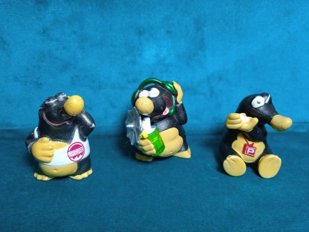 3 фигурки из коллекции киндер миссия крот 2 2006 г.