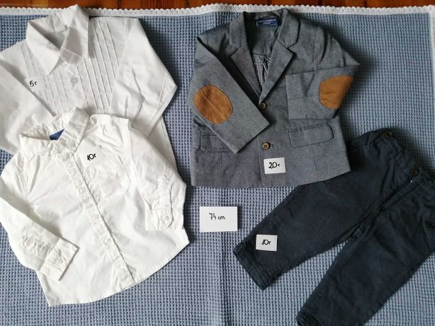 Garnitur, koszula 74cm Cocodrillo