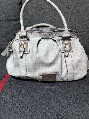 Шкіряна сумка-саквояж
