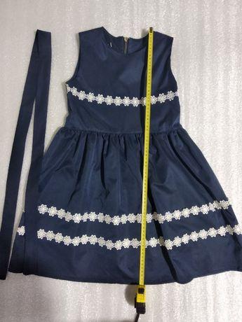 Платье темно-синее школьное для девочки 10 лет (по г.Запорожье)