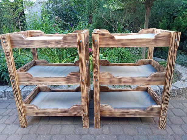 Piętrowe LEGOWISKO dla kotów NOWE - opalane drewno sosnowe 3 poziomy