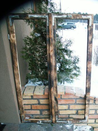 Zestaw starych okien loft lustro, zdjęcia, aranżacja 92x133