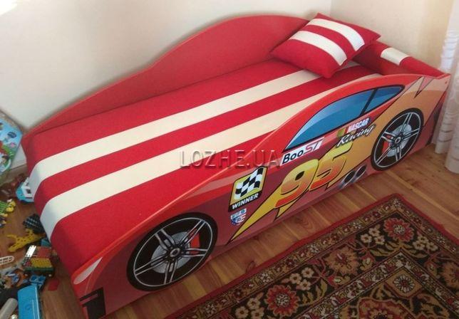 Кровать машина с матрасом и подушкой. Бесплатная доставка.