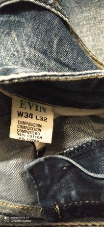 Spodnie jeans męskie 34