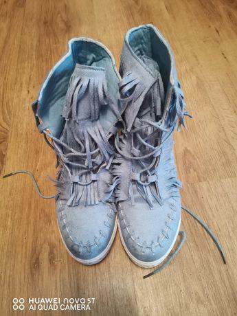 Piekne buty na koturnie rozmiar 39