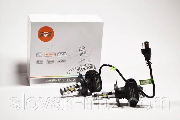 Комплект LED ламп HeadLight S1 H4 6000K 4000lm с радиатором