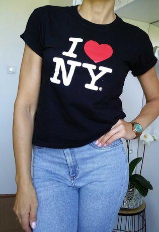 Podkoszulka bluzka t-shirt black czarny M 38 love