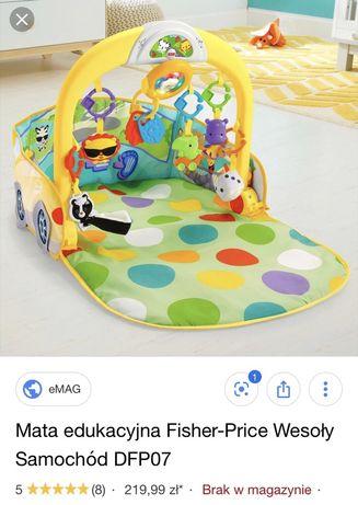 Fisher Price- Mata edukacyjna wesoły samochodzik
