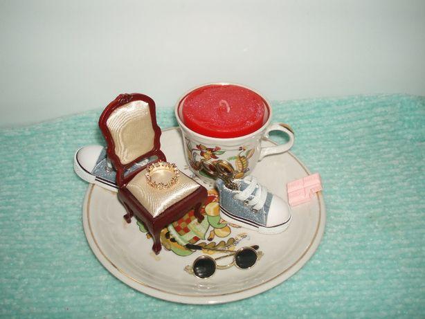 Хендмейд handmade аромосвеча фарфор сувенир подарок декор тарелкачашка