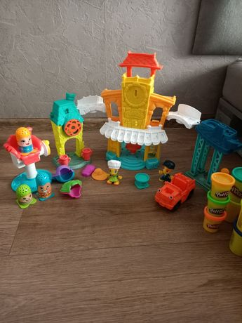 Play doh town duzy zestaw miasto i mini fryzjer