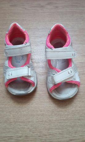 Sandalki dziewczece bialo- rozowe rozm.22
