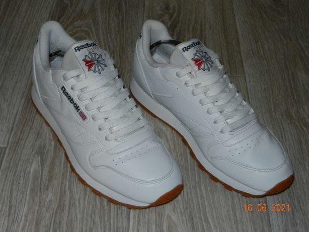 Мужские кроссовки Reebok Classic белого цвета, размер 42.