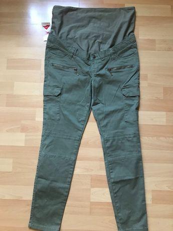 Spodnie ciążowe jeansy roz. 42/44 bonprix khaki nowe rurki