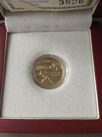Moneta złota 100 zł Mistrzostwa Europy w Piłce Nożnej UEFA 2010-12