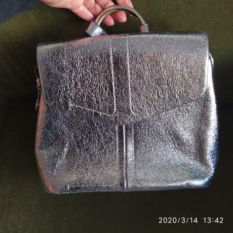 Рюкзак ZARA, серебряный
