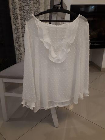 Bluzka biała M falbanka