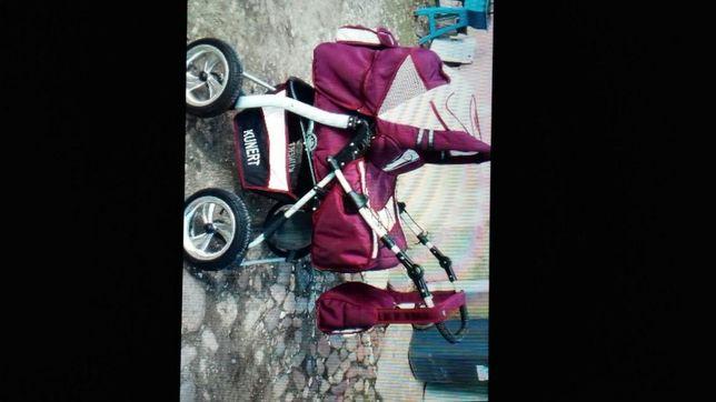 Mam do sprzedania Wózek Kunert głęboki wraz z gondola plus spacerówka