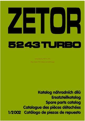 Katalog części ZETOR 5243 TURBO