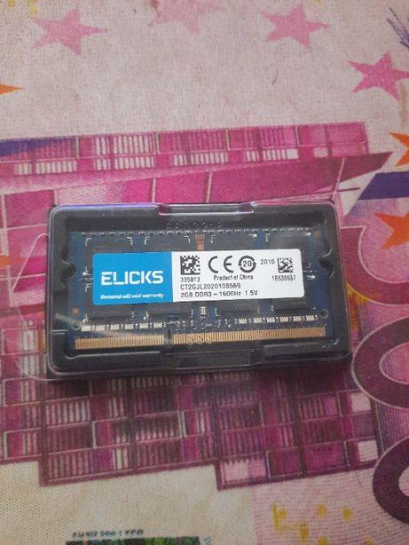 Memória So-DIMM 2GB DDR3 1600Mhz