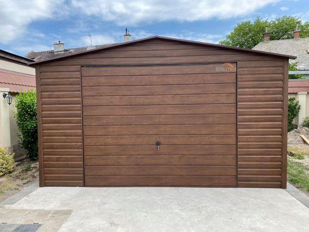 Garaż blacha orzech , profil , garaże blaszane , schowek , garaz