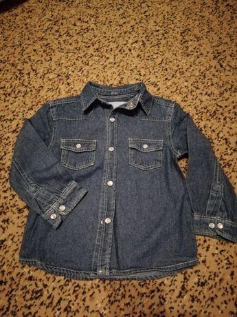 Джинсовая рубашка 104р