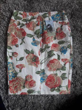 Kwiaty, mini, polo, vintage, róże, ołowkowa, retro, pin up