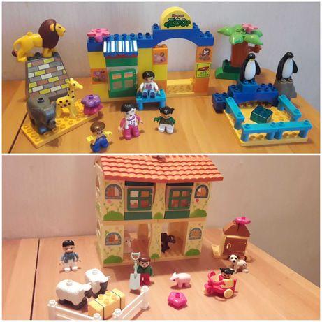 Конструктор крупный Jdlt семья пришла в Зоопарк, Ферма Lego duplo Лего